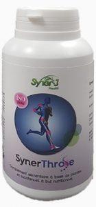 SynerThrose, produit naturel complément alimentaire SynerJ-Health de Jaques Prunier pour lutter contre les douleurs articulaires, l'arthrose, l'arthrite et autres troubles squelettiques.
