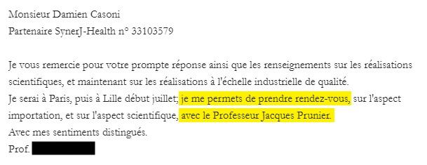 Vereinbaren Sie einen Termin mit Jacques Prunier.